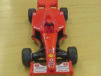 ホットウィールのプルバックフェラーリF1 F2003GA