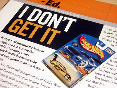 スポーツコンパクトの雑誌ですが、ホットウィールの事も1ページ書かれてました。
