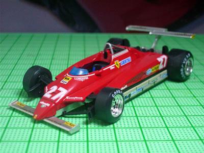 ブルムのフェラーリ126C2(第3戦アメリカ西GPロングビーチ仕様)の1/43ミニカー。