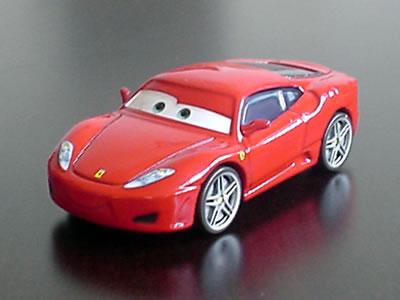 ディズニー・ピクサーの映画『カーズ』のキャラクターカー「フェラーリF430」のミニカーです。