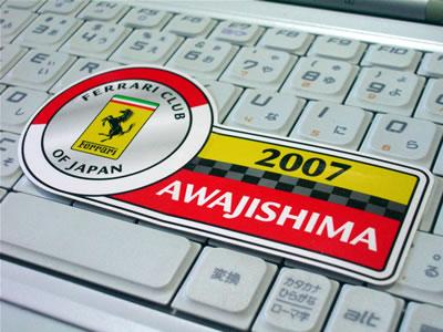 「Ferrari Club of Japan AWAJISHIMA(FCJ淡路島ミーティング)」のステッカーです。