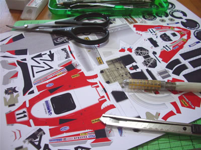 「Ferrari 312T2 #11 Gilles Villeneuve」のペーパークラフトです。