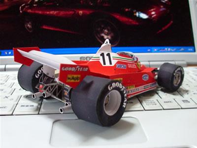 1970年代のF1マシンって、前輪と後輪の大きさが極端に違っててカッコイイんでよね。好きだなぁ。