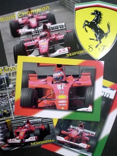 イタリア・フィレンツェで買ってきたフェラーリのポストカード