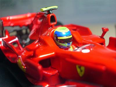 マッサ・・・。淋しそうに見える。2008年最終戦ブラジルGPの表彰台を思い出す。