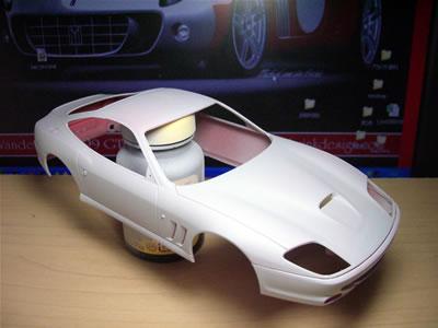 フェラーリ550マラネロかっこいいよね~。このボディを眺めてるだけでもシアワセ。