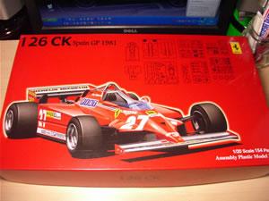 フジミ模型 フェラーリ126CK 1981年スペインGP