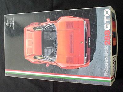 フジミ模型のフェラーリ288GTO(1/24)。エンスージアストモデルです。