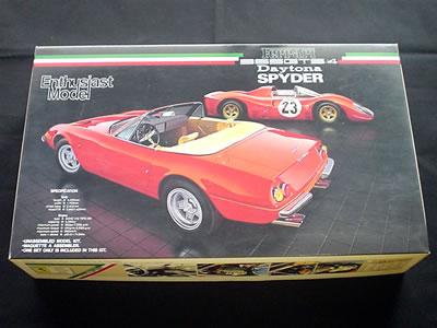 フジミ模型 フェラーリ365GTS/4 デイトナ・スパイダー(1/24)。エンスージアストモデル