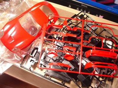 フジミ模型のフェラーリ550マラネロ(1/24)箱の中身