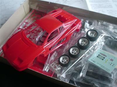 フジミ模型「KOENIG COMPETITION(ケーニッヒ コンペティション)」。フェラーリ・テスタロッサがベースです。