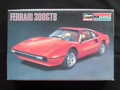 ハセガワ モノグラム フェラーリ 308GTB パッケージ