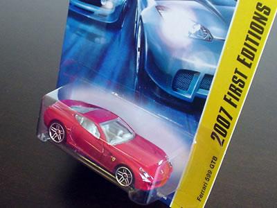 ホットウィール「2007ファーストエディション」フェラーリ599GTBパッケージ