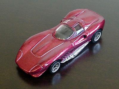 フェラーリエンジンを積んだマシン「トーマシーマ3(Thomassima3)」のホットウィールのミニカーです。