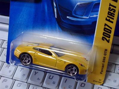 2007 First Edition 14/36 で発売された「フェラーリ599GTB フィオラノ」黄色をようやく発見!!