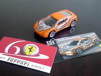 遂に、ガマンできずにブリスター開封しました!フェラーリ60周年「フェラーリGTアソート」のNo.10 フェラーリ360モデナ。