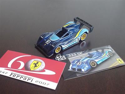 ブリスター破って取り出した。ホットウィールのフェラーリ60周年「フェラーリGTアソート」No.12。フェラーリ333SP。