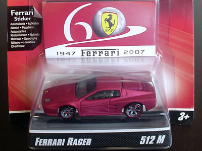 F512M フェラーリ60周年「ホットウィール フェラーリGTアソート」のNo.13。色は赤!