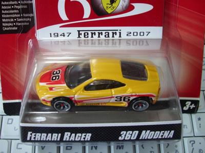 フェラーリ60周年「フェラーリGTアソート」のNo.18。フェラーリ360モデナです。