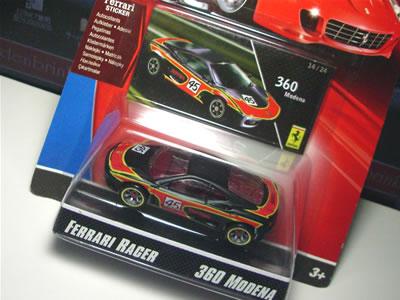 フェラーリレーサーズ「フェラーリGTアソート2008」のNo.14。第2弾Bアソートの「フェラーリ360モデナ」のミニカーです。