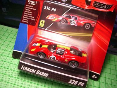 フェラーリレーサーズ「フェラーリGTアソート2008」のNo.17。第2弾Bアソートの「フェラーリ330P4」のミニカーです