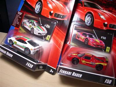 フェラーリレーサーズ「フェラーリGTアソート2008」のCアソートのミニカー2台捕獲しました。