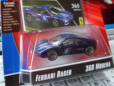 フェラーリ60周年「フェラーリGTアソート」にも登場した「360modena」ですね。やはり今でも人気のある車種だからでしょう。