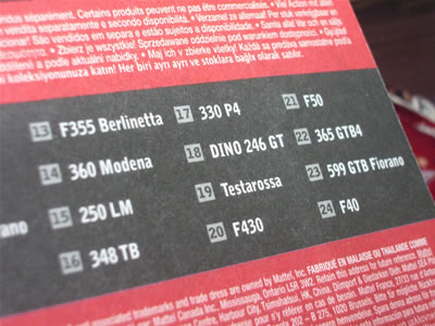No.18に「ディーノ246GT」とあります!! 今までベーシックカーでディーノはなかったよね? ってことは新金型でしょうか! 期待大大大大大大大大~です~!