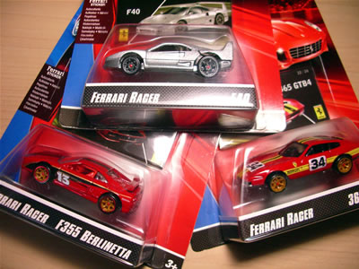 トイザらスでフェラーリレーサーズ「フェラーリGTアソート2008」を3台捕獲。