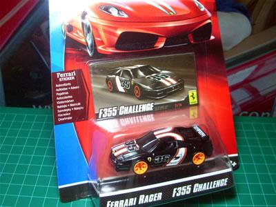 フェラーリレーサー2009のF355チャレンジ。ホットウィールの1/64ミニカーですよ。