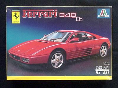 イタレリ フェラーリ348tb(1/24) 法拉利の表記がある。中国でも販売されたのだろうか?