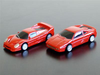 1/87サイズのフェラーリのミニカーF50とF355。「Mimi COLLECTION」ってメーカー名なのか?