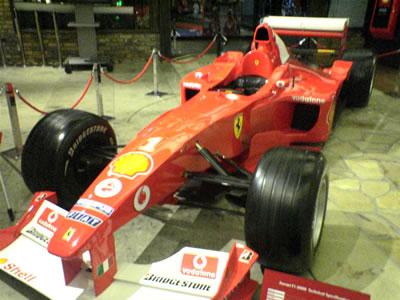 2004年 お台場シェルミュージアム展示フェラーリF1マシン【F1-2000】