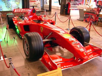 2008年 お台場シェルミュージアム展示フェラーリF1マシン【F2004】
