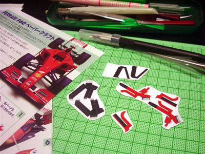 フェラーリF60のペーパークラフト