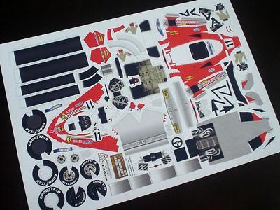「フェラーリ312T2」 1977年のジル・ビルニューブのマシンをペーパークラフトで作りたい!