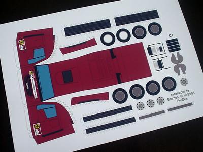 ドイツのペーパクラフトサイトは凄い! フェラーリのトランスポーターとモーターホームだ!