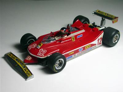 ミニチャンプス(PMA:ポールズモデルアート)の 1/43サイズ。フェラーリ312T4です。