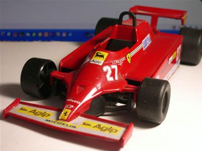 フジミ模型がジル・ビルニューブの「フェラーリ126CK スペインGP」を発売するぞ!(-ディディエ・ピローニの126CKでもありますが-)