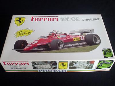 フェラーリ126C2(プロター1/24)プラモデルパッケージ