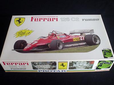 プロターの「フェラーリ126C2」のプラモデル(1/24)