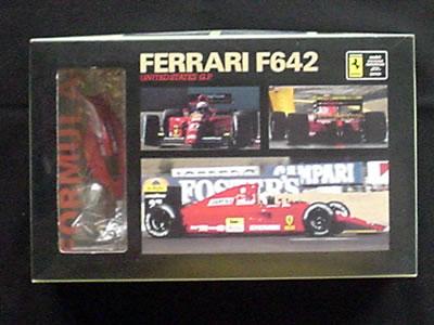 今は亡きプラモデルメーカー「Rosso(ロッソ)」のフェラーリ642(1/43)のプラモデル。