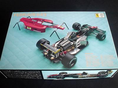 今は亡きプラモデルメーカー「Rosso(ロッソ)」のフェラーリ643(1/24)のプラモデル。パッケージ。