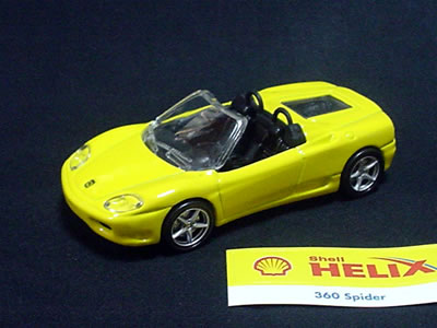 Hotwheels Ferrari 360spider shell model 1/43