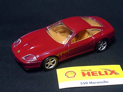 Hotwheels Ferrari 550maranello shell model 1/43