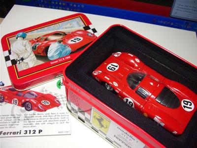 ソリドの缶箱シリーズフェラーリミニカー「312P」