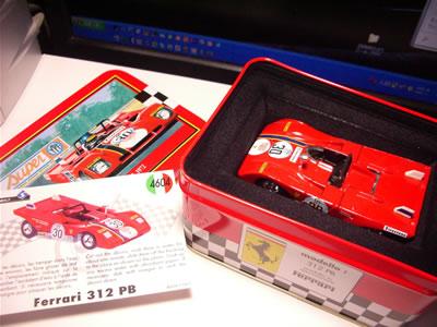 自分が一番欲しかった「フェラーリ312PB」。味のあるパッケージの絵ですよね~。