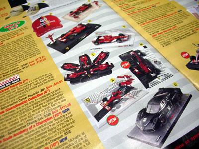ミハエル・シューマッハーのモデルも多数。F1マシンやシューミのFXXなど。