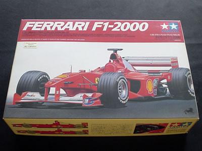 タミヤ模型グランプリコレクションNo.48(ITEM 20048) 1/20サイズ フェラーリF1-2000。