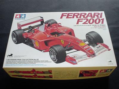 タミヤ模型グランプリコレクションNo.52(ITEM 20052) フェラーリF2001(1/20)